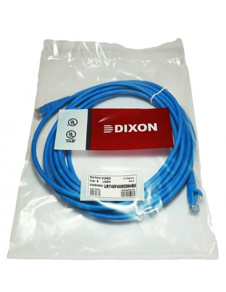Cable de Red Internet Patch Cord Cat 6 Dixon 5 metros PERU