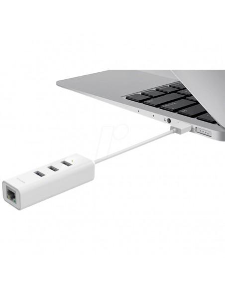 E330 USB 3.0  ADAPTADOR 2 en 1 con Hub de 3 Puertos |TP Link Perú